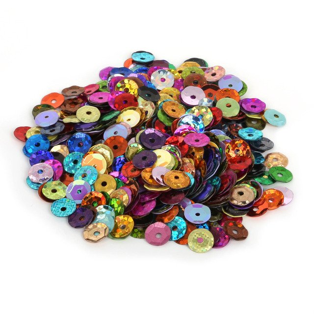 Hot Sale 200-1500pcs different Size mixcolor Loose Sequin for Clothing Accessories DIY Craft Scrapbooking Wedding Jewelry making