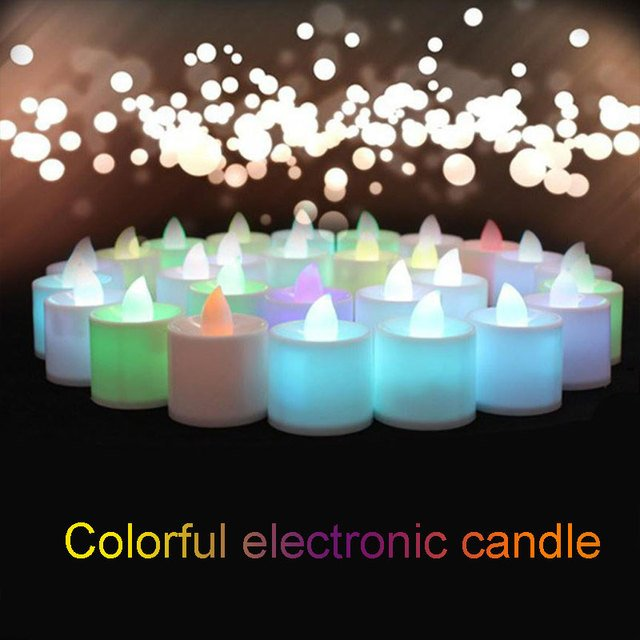 Glow Candle Multicolor Plastic Light LED Light Party Decoration Practical Courtship Display Electronic Candles