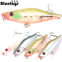 BlueJays 3D Eye Lure Popper bionic bait fishing lures 7cm/7.2g plastic bait Lure Fishing Crank Bait Fishing Tackle free shipping