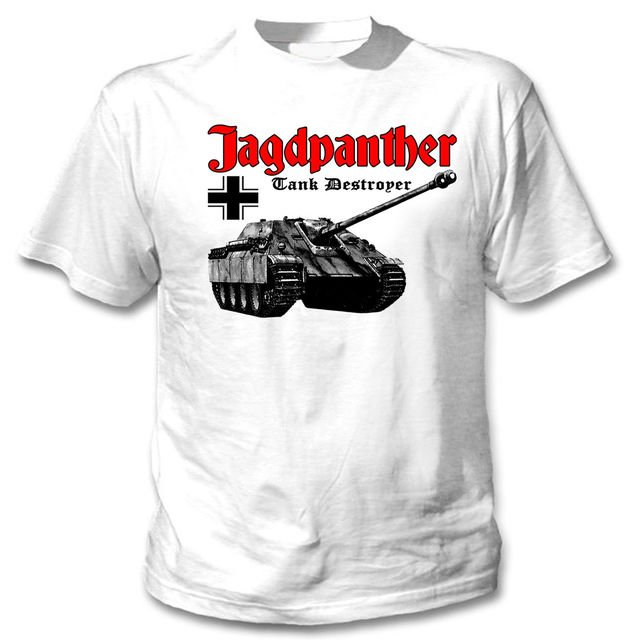 2019 New Arrival Men'S Fashion JAGDPANTHER TANK GERMANY WWII - NEW WHITE COTTON TSHIRT Tee Shirt