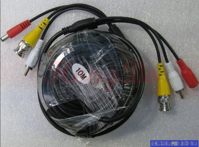 Guaranteed 100%  4PCS 10M VIDEO & POWER & AUDIO 3 IN 1 CCTV CABLE, USE FOR CCTV CAMERAS