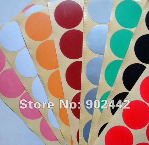 Free shipping 1080pcs/lot Colorful Paper Sticker Circle Labels 32 mm Round Paper Seal Stickers