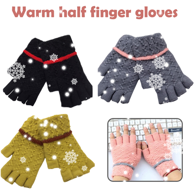 Wool Lady Warm Gloves Wool-Knit Riding Winter Riding Glove Touch Screen Skiing Keep Warm Mittens Motorcycle Mobile Phone