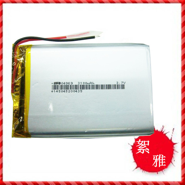 3.7V 3100mah polymer battery 804969 MP5/4 tablet MID PSP lithium battery Rechargeable Li-ion Cell