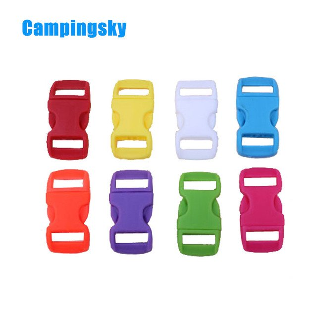 Paracord buckle Mixed Colorful Plastic Buckles Contoured Curved for paracord Bracelets 100Pcs Pack