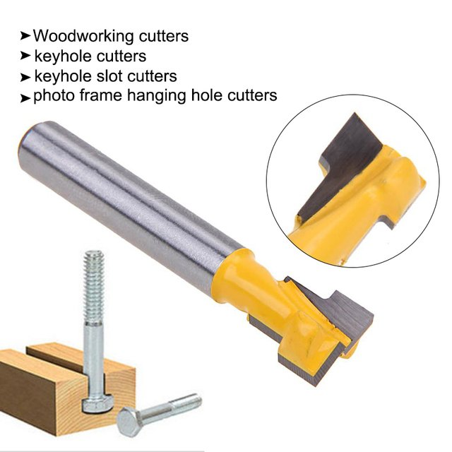 Yellow Wood Drilling Milling Durable Architecture Carpenter Milling Cutter Wood Tool Miter Router Bit