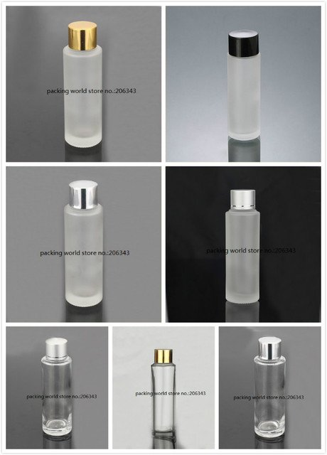 50ml frosted glass bottle with screw lid plastic stopper for lotion/emulsion/toner/water/sink care cosmetic packing