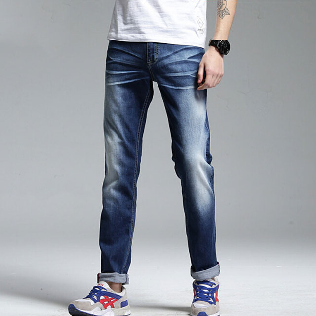 Brand summer   jeans  men straight casual jeans fashion deninm  jeans solid color pepe pants for men large size 28 to 38