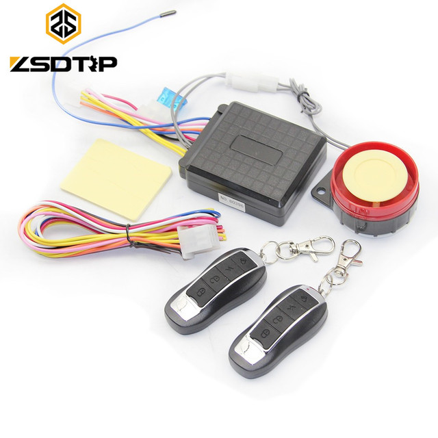 ZSDTRP 12V Motorcycle Bike Anti-theft Security Alarm System Remote Control Accessories