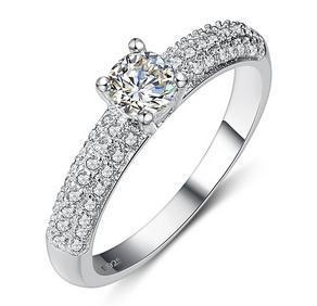 New arrival high quality shiny CZ zircon ladies wedding ring 925 sterling silver Valentines Gift wholesale no fade