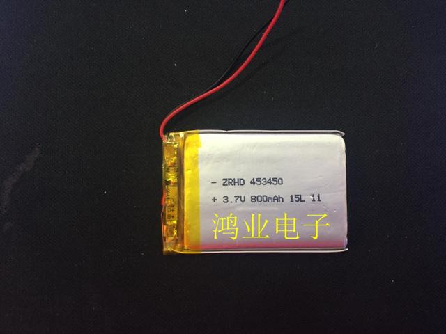 3.7V polymer lithium battery 453450P 800MAH recorder Bluetooth audio and other digital products Rechargeable Li-ion Cell