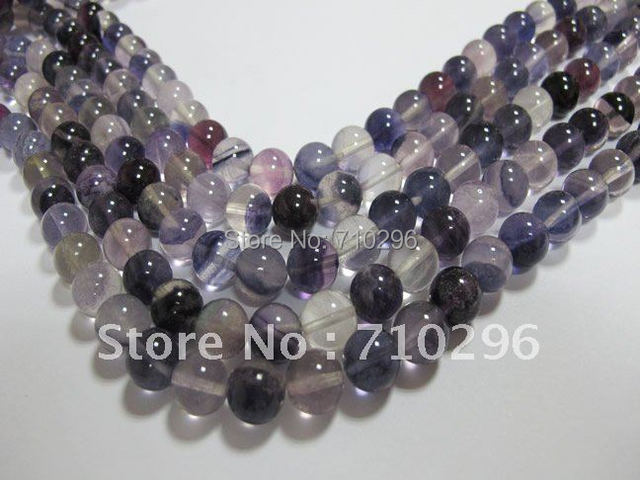 Natural Flourite Gem stone10 mm Round stone Jewelry Beads 40cm/strand