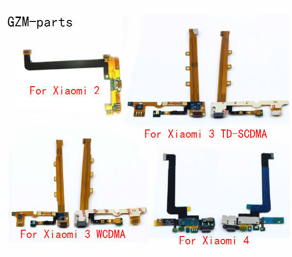GZM-parts 1 piece USB Charging Port Board Flex Cable Connector Parts For Xiaomi 2 3 4 4C 4S 5 5S 5X 6 Max Max2 Mix Mix2
