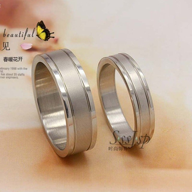 New fashion Lovers finger ring high quality 316L stainless steel silver couple wedding rings fancy jewelry wholesale 36 pcs/lot