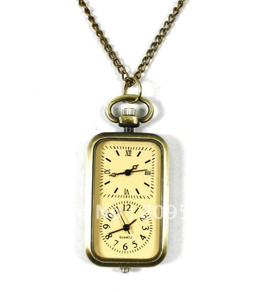 Coupon for wholesale buyer price good quality fashion lady woman girl yellow quartz nice new bronze double movement pocket watch