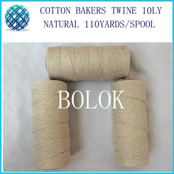 20pcs/lot 100% natural color 10ply Cotton cords  twisted cotton string twine for all kinds packing such as food, sugar, meat