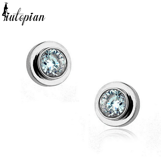 Iutopian Brand Simple Style Stud Brincos Fashion Dont Lose Color Top Quality 1#RG81142