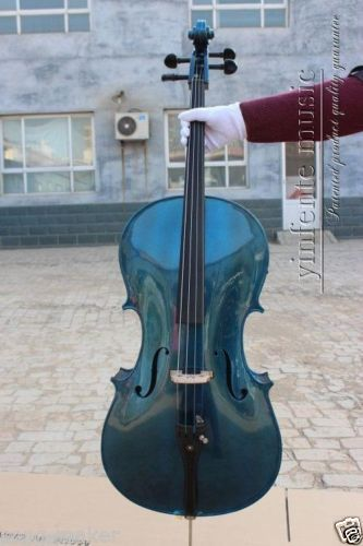 4/4 New  Electric cello Powerful Sound blue  color  1#