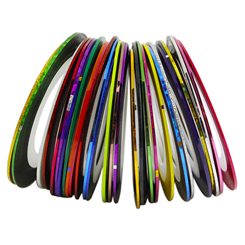 30Pcs/Rolls Mixed Colors Striping Tape Line DIY Nail Art Tips Decoration Sticker