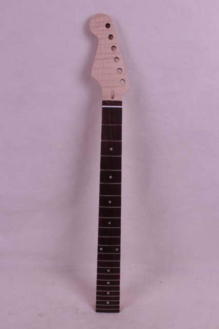 1 pcs left  New high quality Unfinished electric guitar neck   flame Maple  made rosewood    fingerboard
