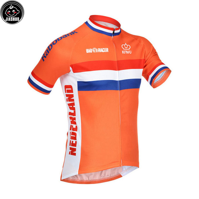 Classical NEW 2017 Netherlands orange pro Bike Team Cycling Jersey Breathable Customized Jiashuo
