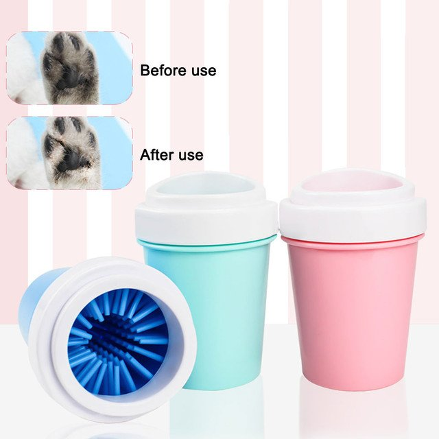 Pet Cats Dogs Foot Clean Cup For Dogs Cats Cleaning Tool Soft Plastic Washing Brush Paw Washer Pet Accessories for Dog