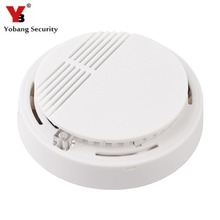 YobangSecurity High Sensitivity Photoelectric Smoke Detector Fire Alarm Sensor for Home Security Independent Smoke Sensor White