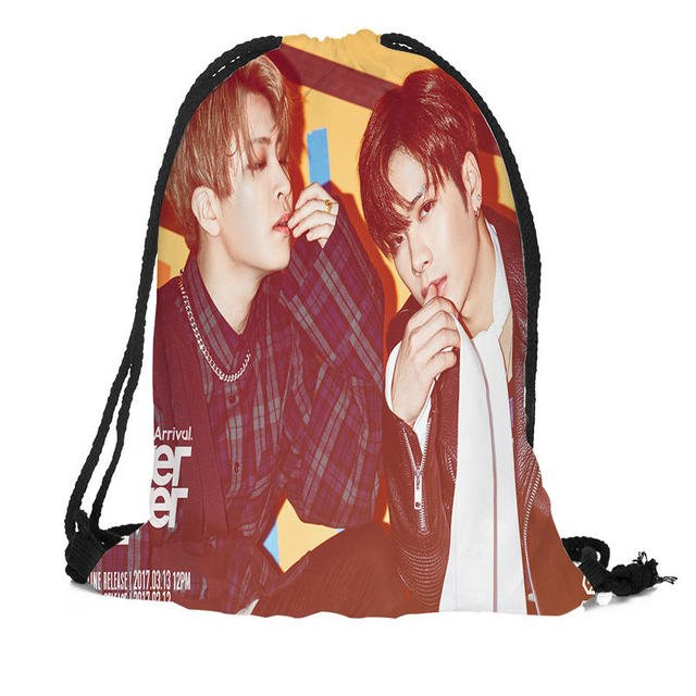Custom GOT7 Backpack Drawstring Bag Travel Beach School Bag Multi-function Backpack Printing