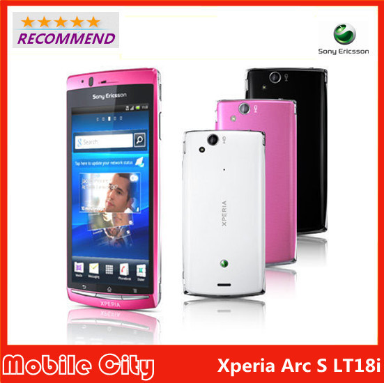Original Unlocked LT18i Refurbished Sony Ericsson Xperia Arc S LT18i Cell phone Android 3G WIFI A-GPS 4.2 8MP Free Shipping