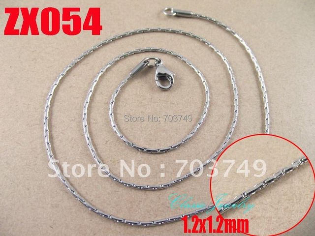 500mm length 1.2mm stainless steel  cross chain necklace fashion men's women jewelry chains 10pcs ZX054
