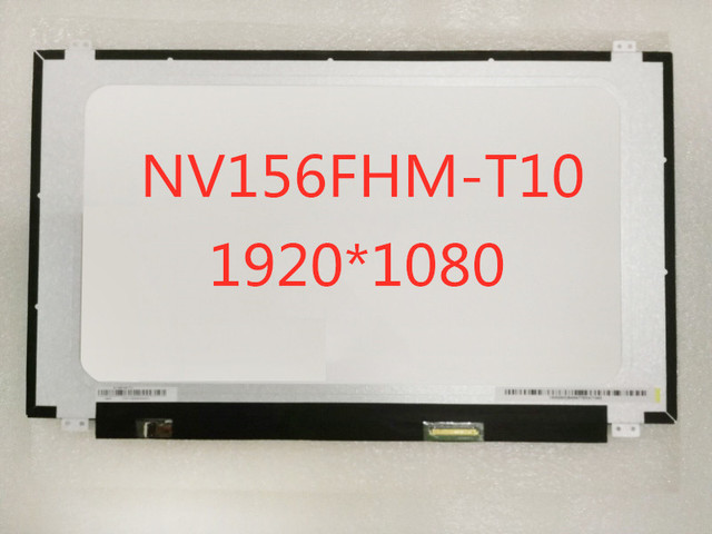 """NV156FHM-T10 15.6"""" inch Led Lcd Screen FHD 1920x1080 IPS Touch Screen Touch On-cell 40pins Glossy New Replacement"""
