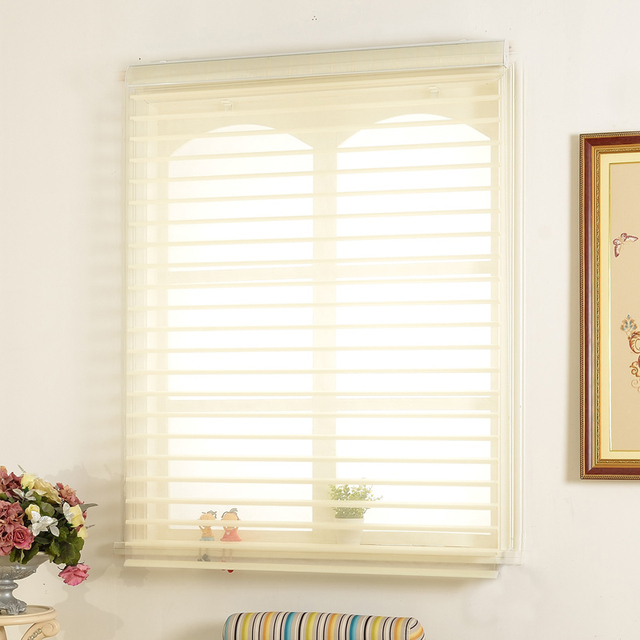 Home Decor Shangri-la Blinds and Zebra Blinds For Window Curtain Roller Shutter Layer Shade Blind Finished Curtain Free Shipping