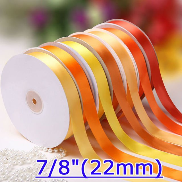 "[IuBuFiGo] 7/8""(22mm) Satin Ribbon Single Face Packing Ribbon 100yard/roll/lot Free shipping"