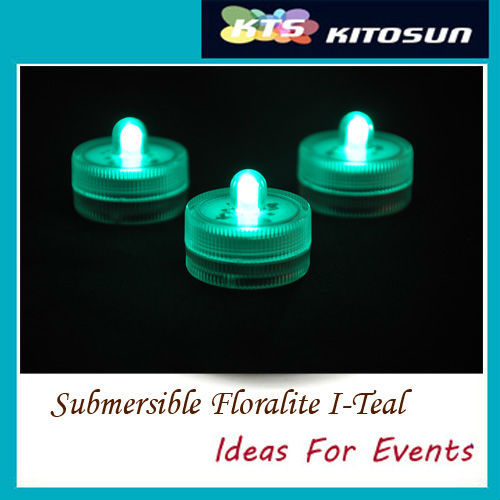 Wholesale120pcs Teal color High Quality Submersible battery led FLoralyte For Cake Decoration