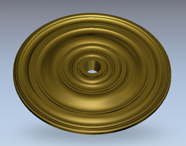 3D Round plate ring Relief Model in STL format for CNC Router Carving Engraving Artcam aspire R95
