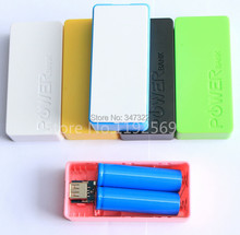 DIY Cell Box 2*18650 Portable External Battery Mobile Phone Charger Power Bank Box 10000 mah Backup Power Shell for iPhone 4 5s