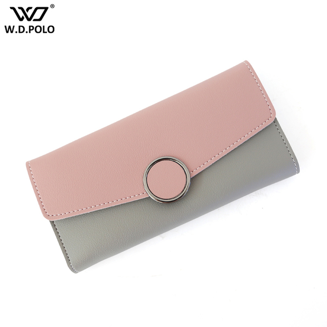 WDPOLO New Wallet Women Vintage Fashion Top Quality Long Wallet Pu Leather Purse Female Money Bag Hasp Coin Pocket C655