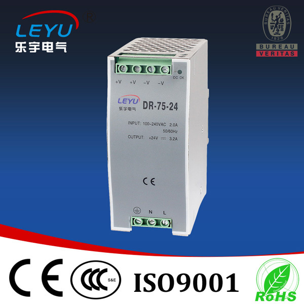 75W 12V 24V 48V Switching Power Supply Din Rail With CE RoHS Certification
