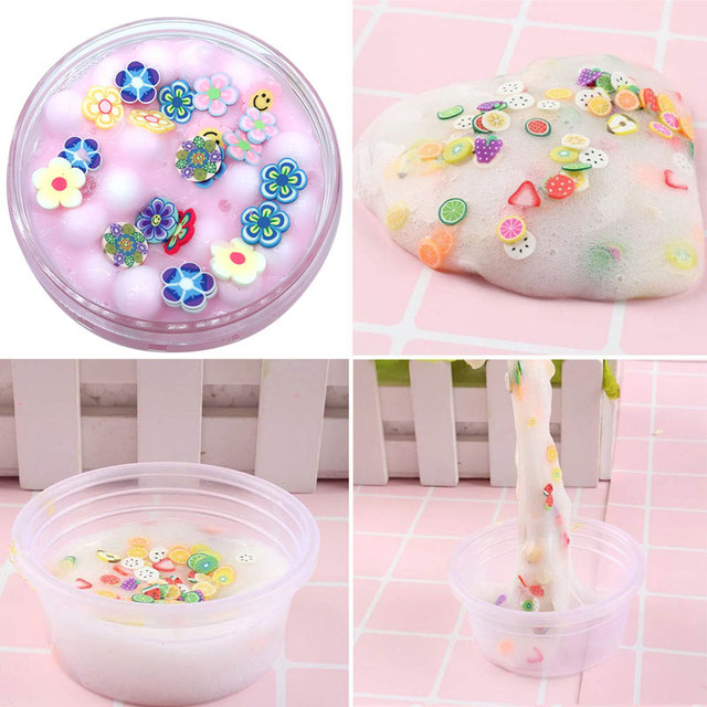 Slime toys Clay Fruit Slices Mud Creative Cloud Slime Play House Flowers Clay Toys Slime Toys Funny - Decompression