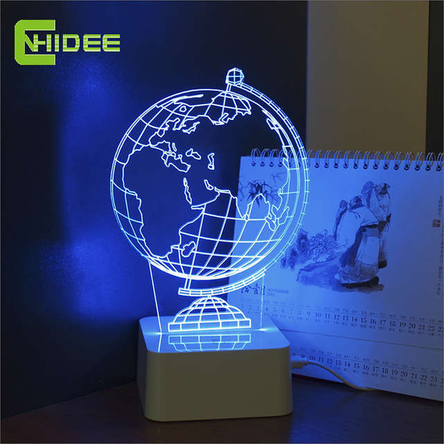 CNHidee 3d Mpara De Mesa USB Globe Lamp as Home Led Touch Light for Friends Creative Presents