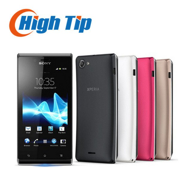 """Original Unlocked ST26 Sony Xperia J ST26i Cell phone GPS Wi-Fi 5MP 4.0"""" TFT Capacitive Touchscreen Android OS Refurbished"""