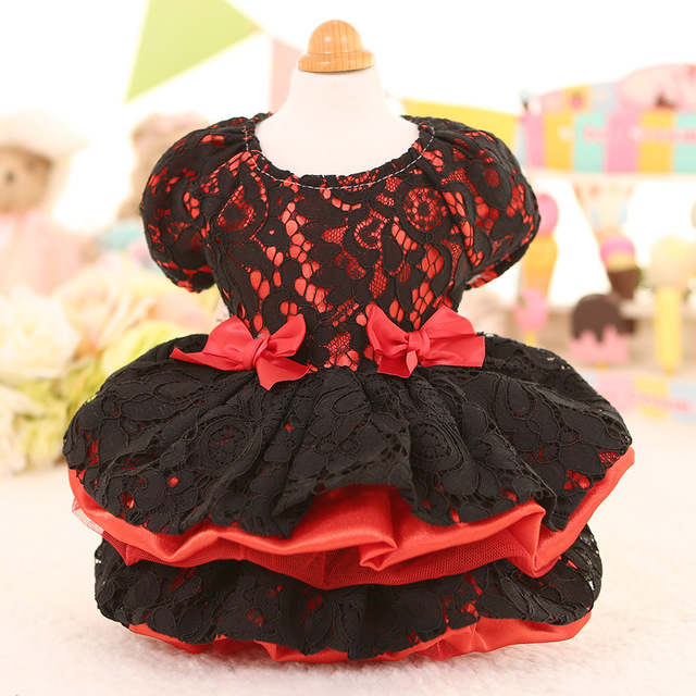 Spring & Summer Dog Clothes Dress With Lace Princess Wedding Costume Pet Clothing For Small Dogs And Cats  Chihuahua Dresses
