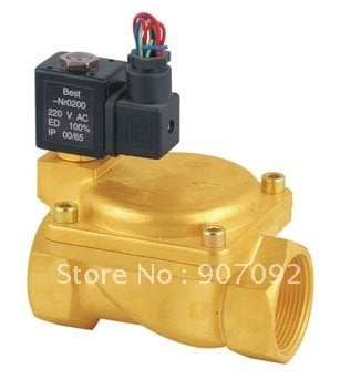Hailong 0927600 2/2 Way Brass Diaphragm Control Electric Valve Normally Closed 1 1/2''