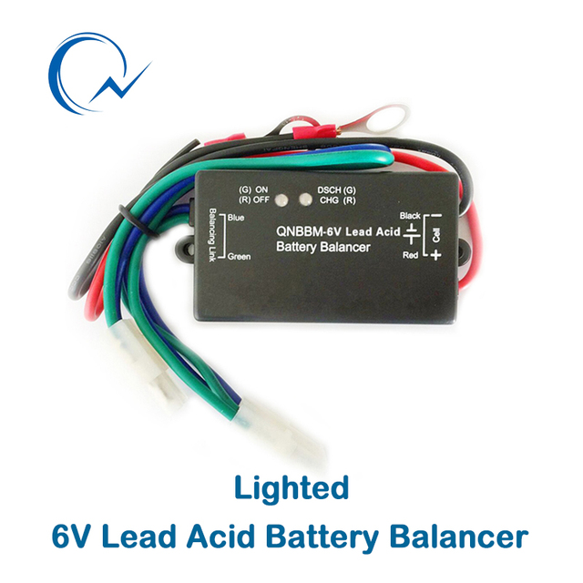 QNBBM 6V Lead Acid Battery Balancer Equalizer With Led BMS Flooded AGM GELL Battery Anti-vulcanization,Anti-corossion