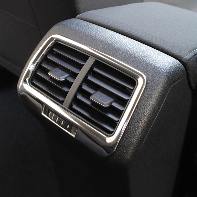 Stainless steel exhaust outlet rear modification decorative sequins box For Volkswagen VW Golf 7 MK7 2014