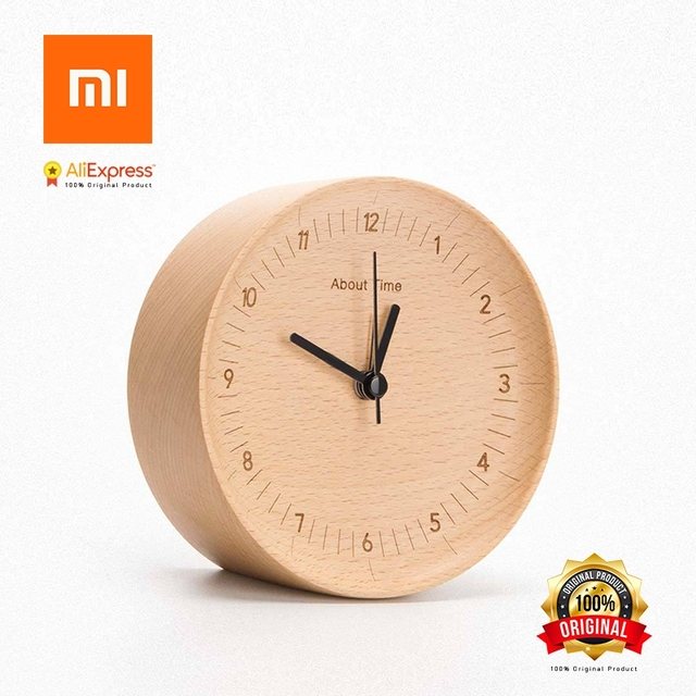 Xiaomi About Time Alarm Clock Natural Wood Minimalist For Home Decoration Alarm Clock Xiaomi Sending From Russia
