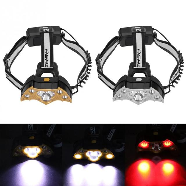 USB Rechargeable Headlamp Head Lamp 7LED High Bright Headlight Torch Head LampLight for Outdoor Camping Fishing