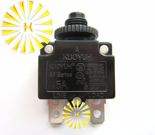 Circuit Breaker Overload Protector Switch Fuse 3A 4A 5A 6A 8A 10A 15A 20A NEW