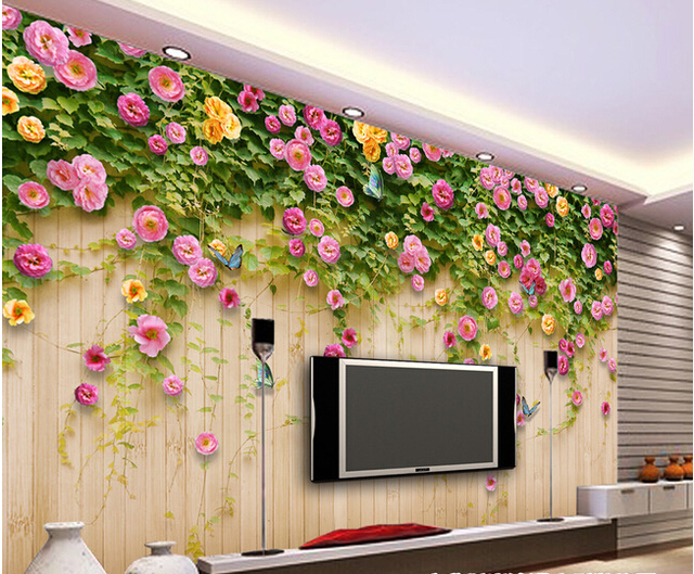 The custom 3D murals,the flower blossoms on the board of wall  papel de parede,living room sofa TV wall bedroom wall paper