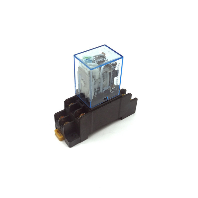 110VAC Coil Power Relay MY2NJ HH52P-L 8PIN 5A With PYF08A Socket Base